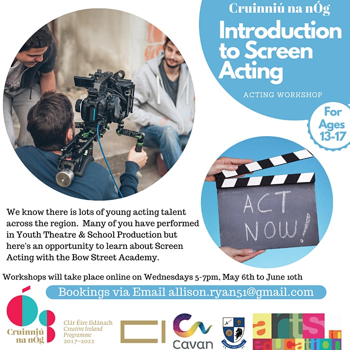 Online Introduction to Screen Acting in association with Bow Street Academy image