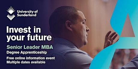 University of Sunderland MBA Senior Leader Apprenticeship Information Event tickets