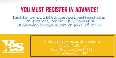 FREE USA Bowling Online Coaching Seminar - Northern California tickets