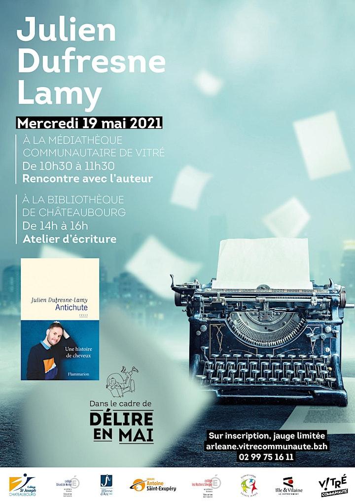 Image pour Atelier d'écriture avec Julien Dufresne-Lamy