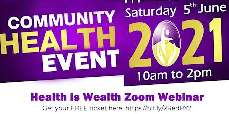 Chi Mu Mu Presents:  Health is Wealth Zoom Webinar tickets