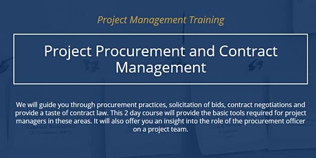 Project Procurement & Contract Management [ONLINE] tickets