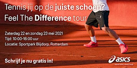 ASICS Feel the DIfference Tennis Tour - 22 en 23 mei - Sportpark Blijdorp tickets