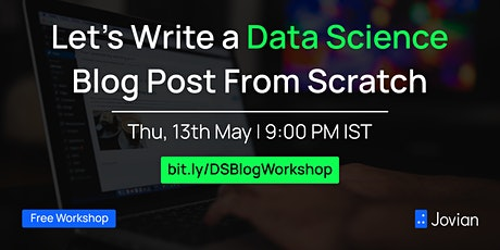 Let's Write a Data Science Blog Post From Scratch tickets