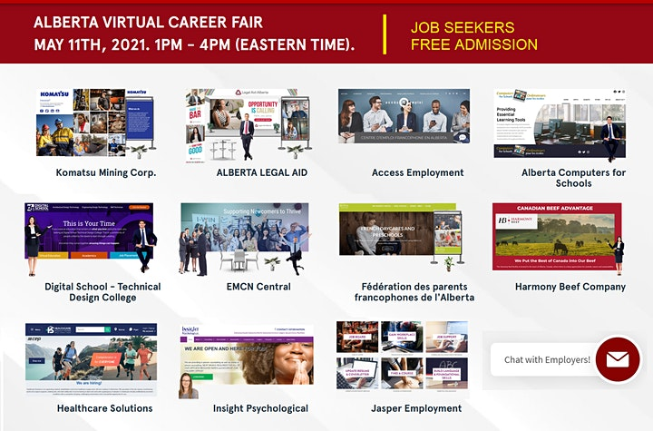 Alberta Virtual Career Fair - Wednesday, July 28th 2021 image