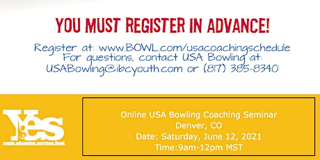 FREE USA Bowling Online Coaching Seminar - Denver, CO tickets