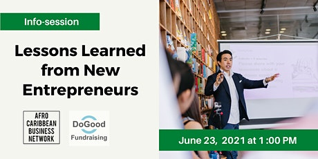 Lessons Learned from New Entrepreneurs tickets