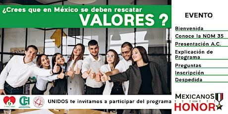 Conoce el programa Mexicanos con Honor boletos