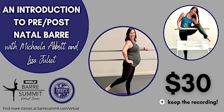 An Introduction to Pre/Postnatal Barre tickets