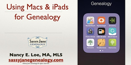 Using Macs and iPads for Genealogy tickets