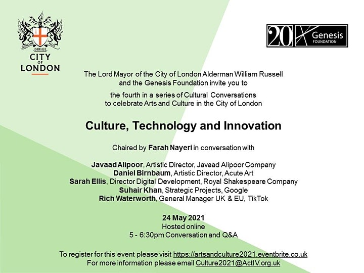 CULTURAL CONVERSATIONS: Culture, Technology and Innovation image