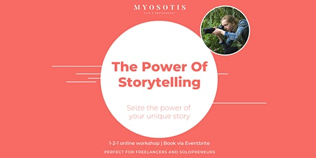 The Power Of Storytelling: a crash-course in story development (1-2-1) tickets