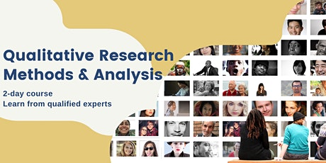 An Introduction to Qualitative Research Methods and Analysis tickets