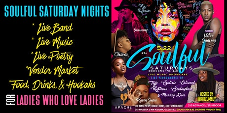 Soulful Saturday Night w. Live Band, Music, & Poetry tickets