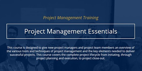 Project Management Essentials [IN PERSON] tickets