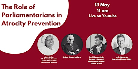 The Role of Parliamentarians in Atrocity Prevention tickets