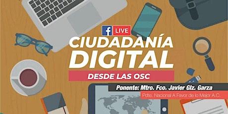 Ciudadanía Digital desde las OSC tickets