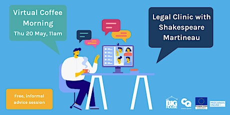 Virtual Coffee Morning: Legal Clinic with Shakespeare Martineau tickets