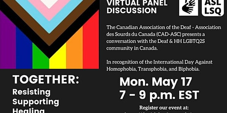 Deaf LGBTQ2S Community Panel | Panel de la Communité Sourde LGBTQ2S tickets
