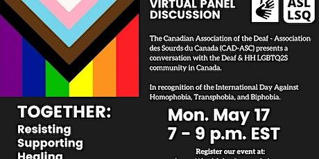 Deaf LGBTQ2S Community Panel | Panel de la Communité Sourde LGBTQ2S entradas