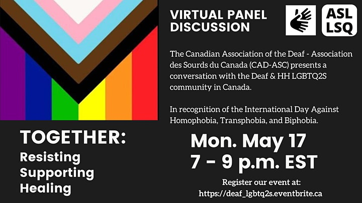 Deaf LGBTQ2S Community Panel | Panel de la Communité Sourde LGBTQ2S image