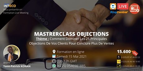 Masterclass OBJECTIONS billets