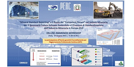 Workshop Mineral Standard Reporting & Competent Person in the Mining Sector biglietti