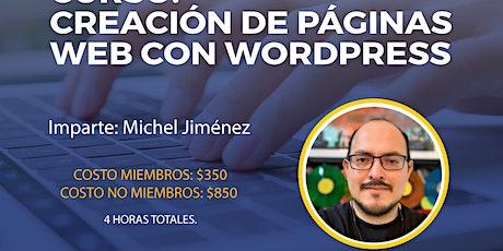 Creación de páginas web con Wordpress biglietti