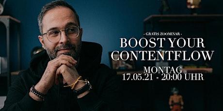 BOOST your Contentflow - Für Hochzeitsfotografen  > Zoominar Tickets