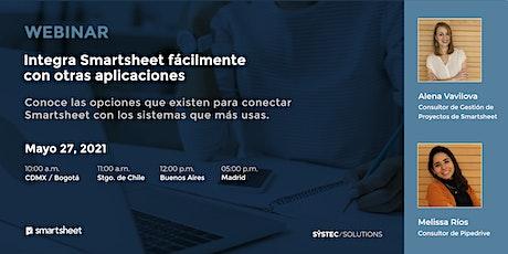 Integra Smartsheet fácilmente con otras aplicaciones entradas