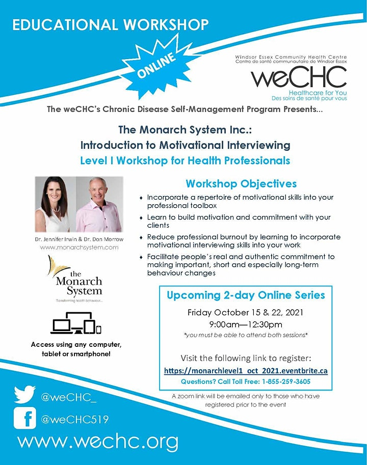 The Monarch System Inc. Level 1:  2-day Webinar for Health Professionals image