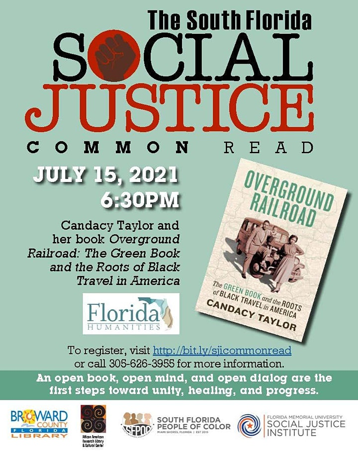 South Florida Social Justice Common Read: The Overground Railroad image