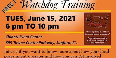 Watchdog Training - Free tickets