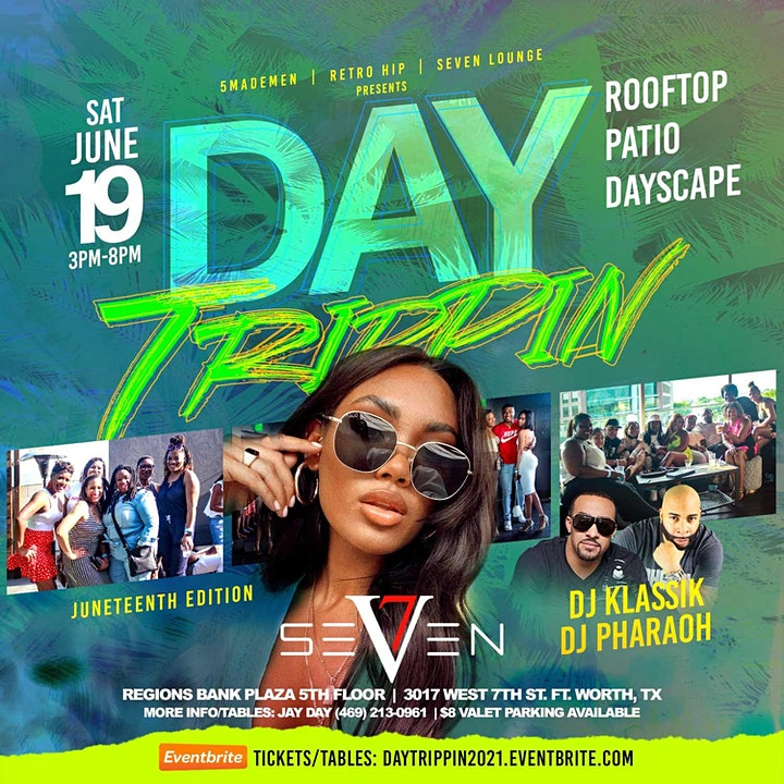 SAT | JUNE 19// DAY TRIPPIN ROOF-TOP PARTY // DJ KLASSIK + DJ PHARAOH! image