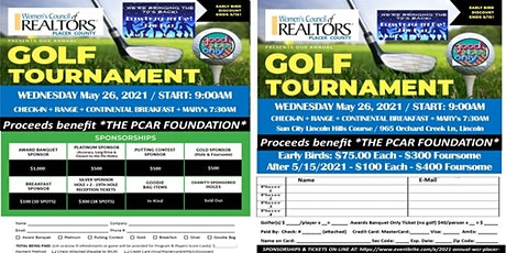 GET YOUR GROOVE ON - 2021 WCR Placer Annual Golf Tourney + Awards Mixer tickets