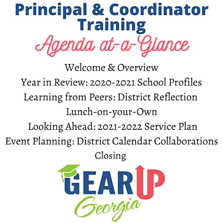 2021 GEAR UP Georgia Principal and Coordinator Training image