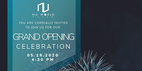 Nu World Title Grand Opening Celebration tickets