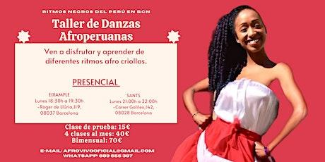 Taller de danzas Afroperuanas en Barcelona entradas