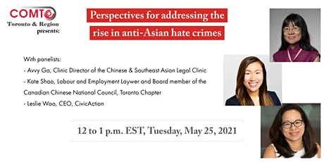 Perspectives for addressing the rise in anti-Asian hate crimes tickets
