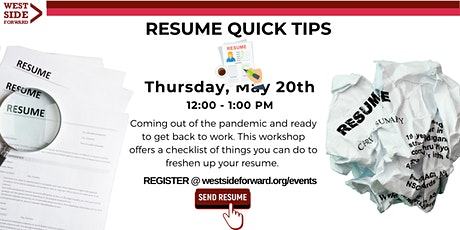 Resume Quick Tips tickets