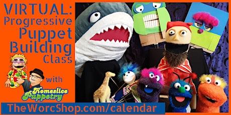 VIRTUAL: Progressive Puppet Building Class -August 2021 (5 Days - 1P) tickets