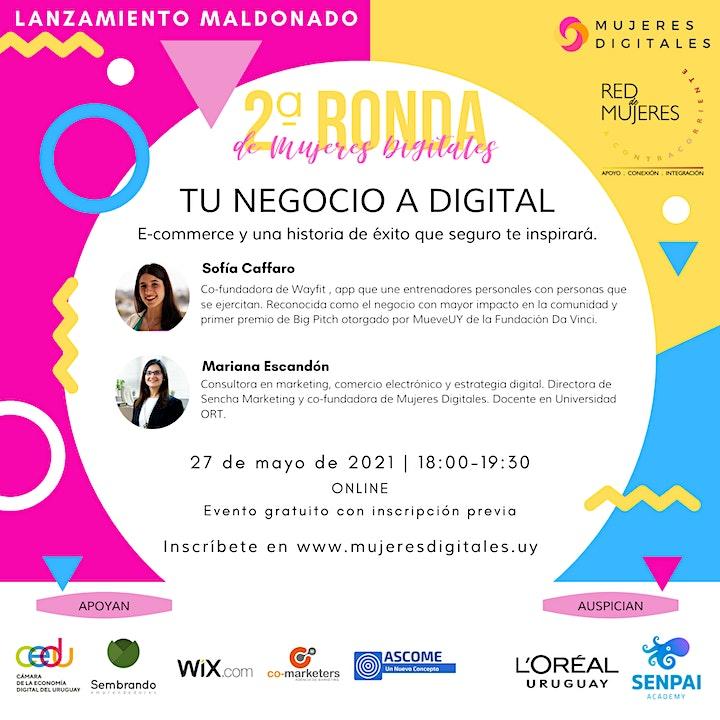 Imagen de 2ª Ronda de Mujeres Digitales: edición Maldonado