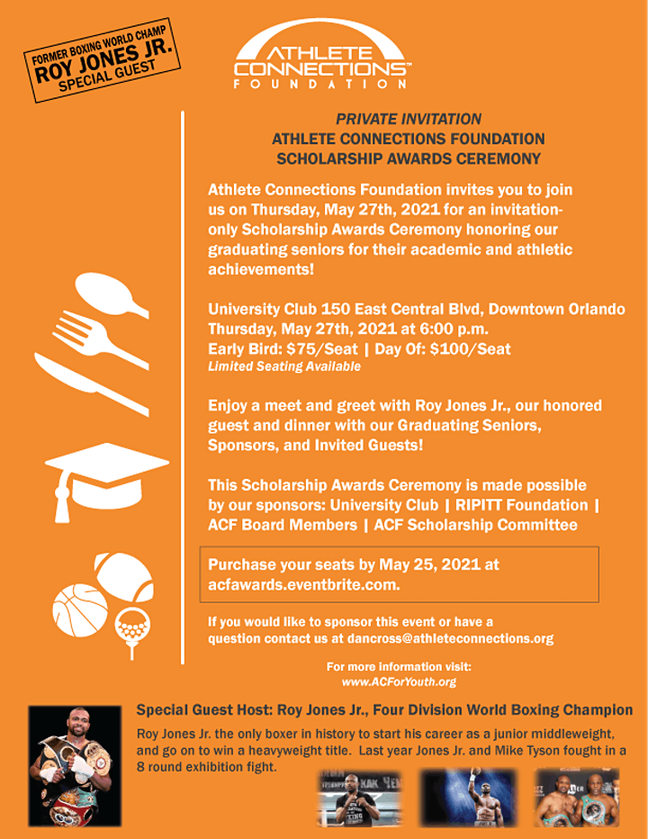 2021 Athlete Connections Foundation Scholarship Awards image
