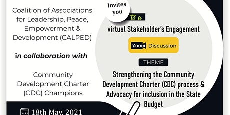 Strengthening the Community Development Charter (CDC) process & Advocacy tickets