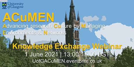 UofG ACuMEN Knowledge-Exchange Webinar tickets