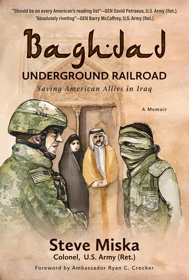 Baghdad Underground Railroad Book Talk @ Jadore image
