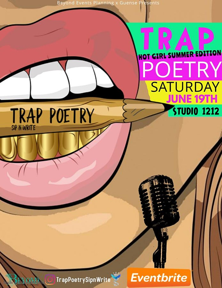 JUNETEENTH HOT GIRL SUMMER TAKEOVER: Trap Poetry Sip n Write image
