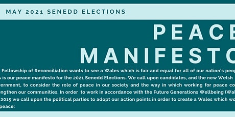 Maniffesto Heddwch Cyfoes / A Peace Manifesto for our Time tickets