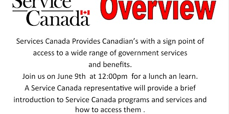 Service Canada Overview tickets