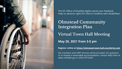 ODR Three-Year Olmstead Plan -- Virtual Town Hall tickets